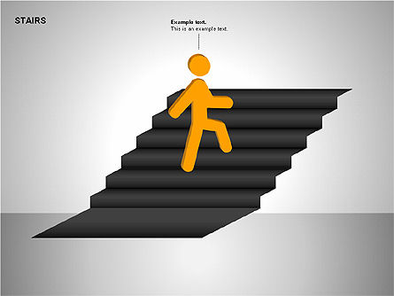 Stairs Charts, Slide 15, 00188, Stage Diagrams — PoweredTemplate.com