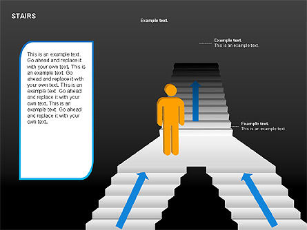 Stairs Charts, Slide 2, 00188, Stage Diagrams — PoweredTemplate.com