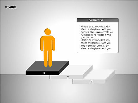 Stairs Charts, Slide 5, 00188, Stage Diagrams — PoweredTemplate.com