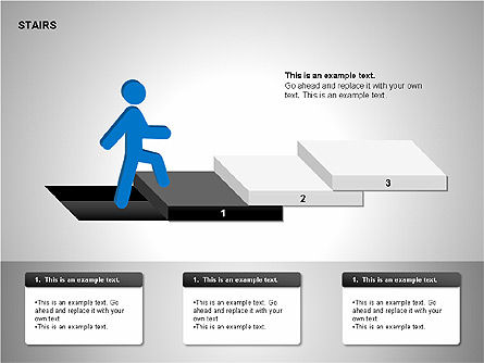 Stairs Charts, Slide 6, 00188, Stage Diagrams — PoweredTemplate.com