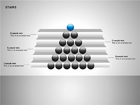 Stairs Charts, Slide 8, 00188, Stage Diagrams — PoweredTemplate.com