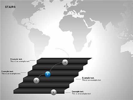 Stairs Charts, Slide 9, 00188, Stage Diagrams — PoweredTemplate.com