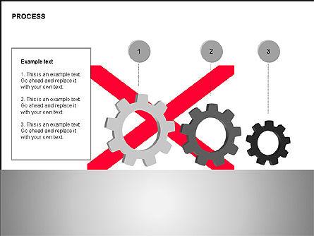 Free Process Gears Diagrams, Slide 10, 00189, Process Diagrams — PoweredTemplate.com