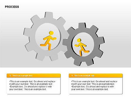 Free Process Gears Diagrams, Slide 13, 00189, Process Diagrams — PoweredTemplate.com