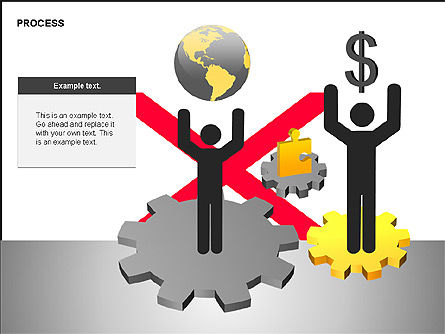 Free Process Gears Diagrams, Slide 2, 00189, Process Diagrams — PoweredTemplate.com