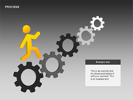Free Process Gears Diagrams, Slide 3, 00189, Process Diagrams — PoweredTemplate.com