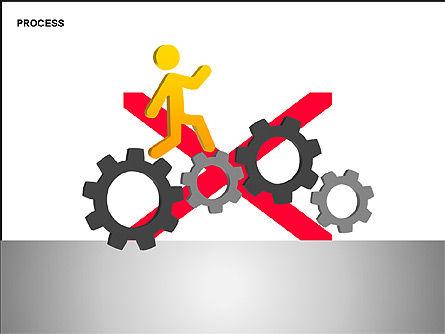 Free Process Gears Diagrams, Slide 5, 00189, Process Diagrams — PoweredTemplate.com