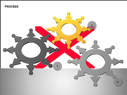 Free Process Gears Diagrams, Slide 6, 00189, Process Diagrams — PoweredTemplate.com