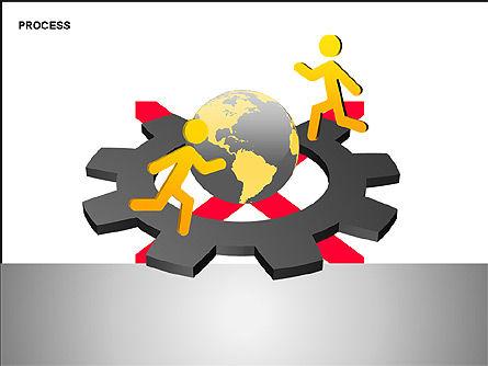 Free Process Gears Diagrams, Slide 8, 00189, Process Diagrams — PoweredTemplate.com