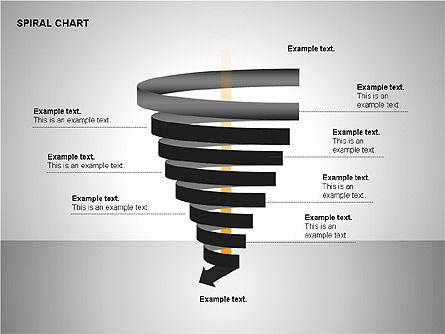 Spiral Tornado Chart Collection, Slide 10, 00190, Process Diagrams — PoweredTemplate.com