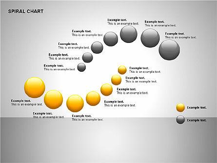 Spiral Tornado Chart Collection, Slide 11, 00190, Process Diagrams — PoweredTemplate.com