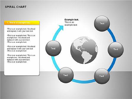Spiral Tornado Chart Collection, Slide 13, 00190, Process Diagrams — PoweredTemplate.com