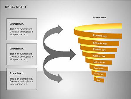 Spiral Tornado Chart Collection, Slide 14, 00190, Process Diagrams — PoweredTemplate.com