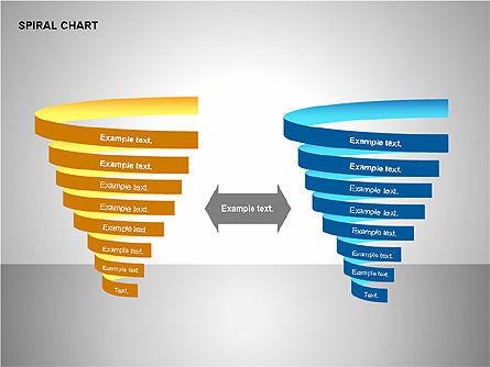 Spiral Tornado Chart Collection, Slide 15, 00190, Process Diagrams — PoweredTemplate.com