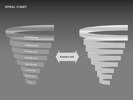 Spiral Tornado Chart Collection, Slide 16, 00190, Process Diagrams — PoweredTemplate.com