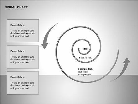 Spiral Tornado Chart Collection, Slide 17, 00190, Process Diagrams — PoweredTemplate.com