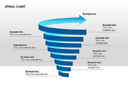 Spiral Tornado Chart Collection, Slide 5, 00190, Process Diagrams — PoweredTemplate.com