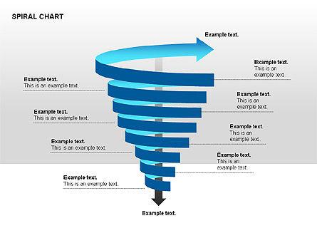 Spiral Tornado Chart Collection, Slide 6, 00190, Process Diagrams — PoweredTemplate.com