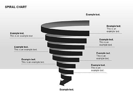 Spiral Tornado Chart Collection, Slide 7, 00190, Process Diagrams — PoweredTemplate.com