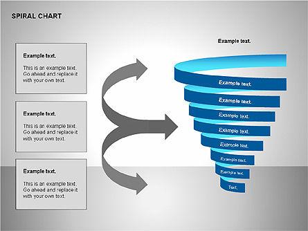 Spiral Tornado Chart Collection, Slide 8, 00190, Process Diagrams — PoweredTemplate.com