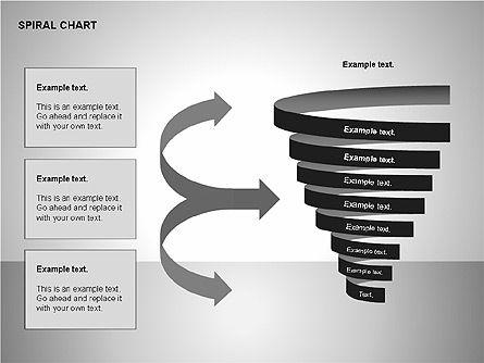 Spiral Tornado Chart Collection, Slide 9, 00190, Process Diagrams — PoweredTemplate.com