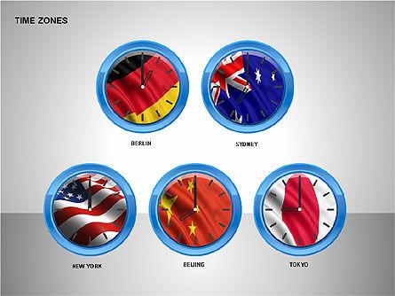 Time Zones Diagrams, Slide 10, 00192, Timelines & Calendars — PoweredTemplate.com
