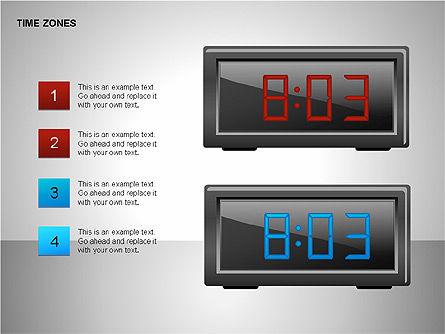 Time Zones Diagrams, Slide 11, 00192, Timelines & Calendars — PoweredTemplate.com