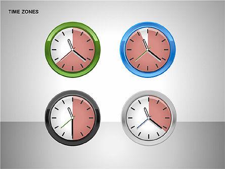 Time Zones Diagrams, Slide 12, 00192, Timelines & Calendars — PoweredTemplate.com