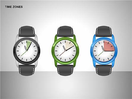 Time Zones Diagrams, Slide 13, 00192, Timelines & Calendars — PoweredTemplate.com