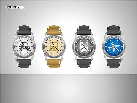 Time Zones Diagrams, Slide 14, 00192, Timelines & Calendars — PoweredTemplate.com