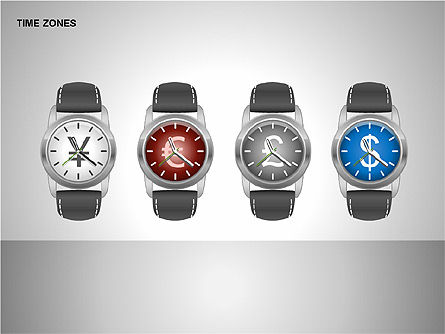 Time Zones Diagrams, Slide 15, 00192, Timelines & Calendars — PoweredTemplate.com