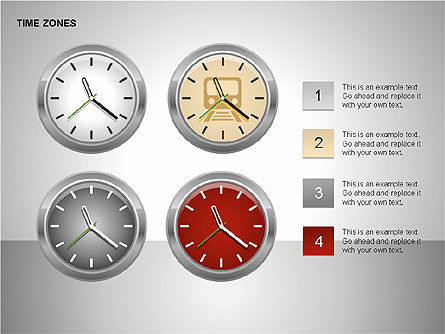 Time Zones Diagrams, Slide 2, 00192, Timelines & Calendars — PoweredTemplate.com
