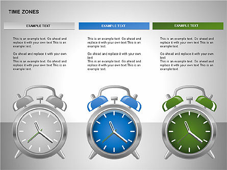 Time Zones Diagrams, Slide 3, 00192, Timelines & Calendars — PoweredTemplate.com