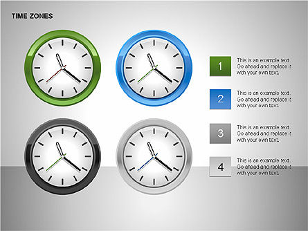 Time Zones Diagrams, Slide 4, 00192, Timelines & Calendars — PoweredTemplate.com