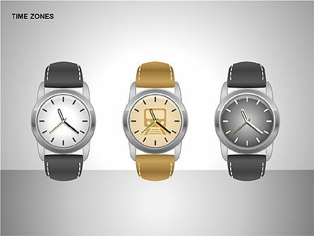 Time Zones Diagrams, Slide 5, 00192, Timelines & Calendars — PoweredTemplate.com