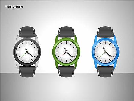 Time Zones Diagrams, Slide 6, 00192, Timelines & Calendars — PoweredTemplate.com