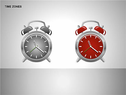 Time Zones Diagrams, Slide 7, 00192, Timelines & Calendars — PoweredTemplate.com