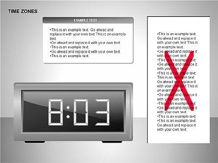 Time Zones Diagrams, Slide 8, 00192, Timelines & Calendars — PoweredTemplate.com