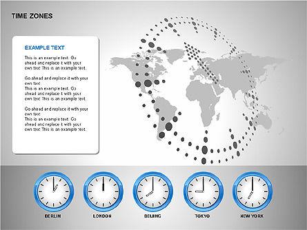 Time Zones Diagrams, Slide 9, 00192, Timelines & Calendars — PoweredTemplate.com