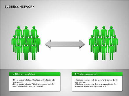 Business Network Building Diagrams, Slide 10, 00194, Graph Charts — PoweredTemplate.com