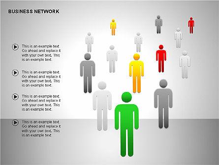 Business Network Building Diagrams, Slide 12, 00194, Graph Charts — PoweredTemplate.com