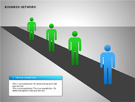 Business Network Building Diagrams, Slide 13, 00194, Graph Charts — PoweredTemplate.com