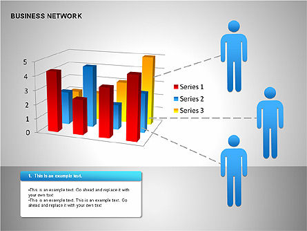 Business Network Building Diagrams, Slide 14, 00194, Graph Charts — PoweredTemplate.com