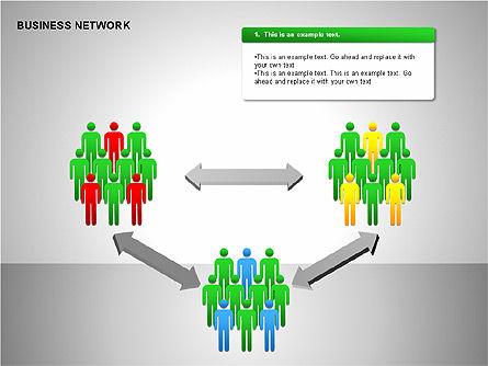 Business Network Building Diagrams, Slide 15, 00194, Graph Charts — PoweredTemplate.com
