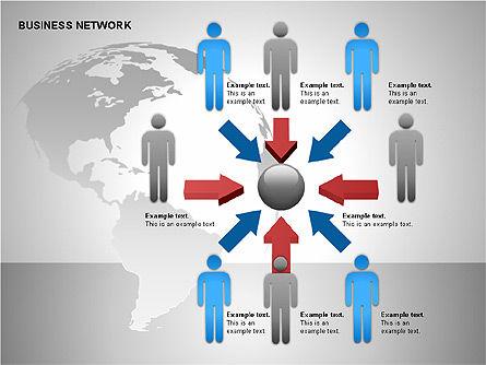 Business Network Building Diagrams, Slide 5, 00194, Graph Charts — PoweredTemplate.com