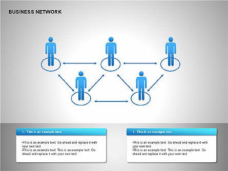 Business Network Building Diagrams, Slide 6, 00194, Graph Charts — PoweredTemplate.com