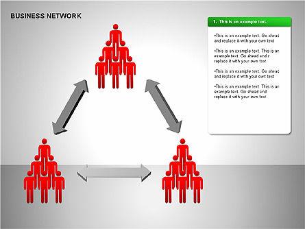 Business Network Building Diagrams, Slide 7, 00194, Graph Charts — PoweredTemplate.com