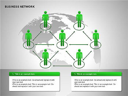 Business Network Building Diagrams, Slide 8, 00194, Graph Charts — PoweredTemplate.com