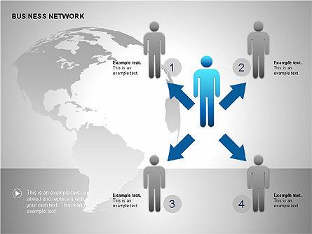 Business Network Building Diagrams, Slide 9, 00194, Graph Charts — PoweredTemplate.com