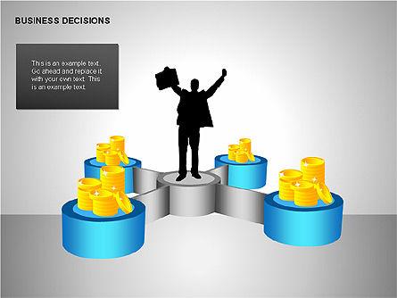 Business Decisions Diagrams, Slide 3, 00197, Business Models — PoweredTemplate.com